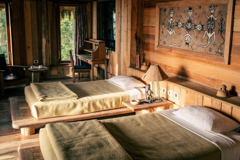 Twin room at The Baliem Valley Resort